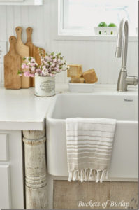 IKEA Faucet and Vintage Columns