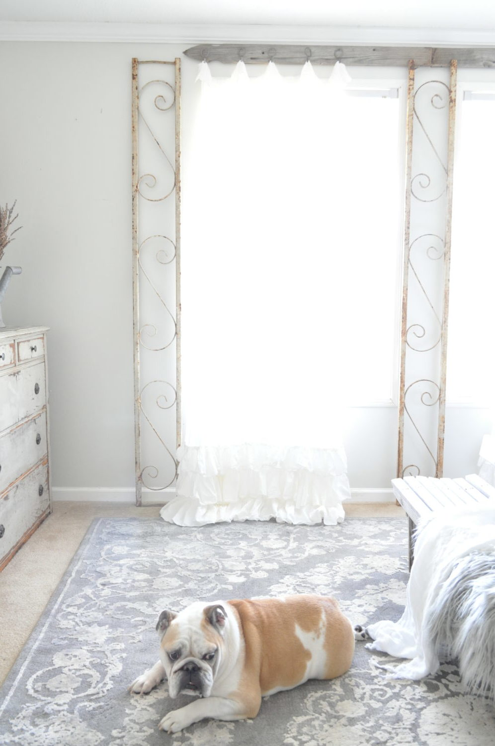Creative Ways To Hang Curtains Becky S Farmhouse,Rustic Industrial Interior Design Bedroom