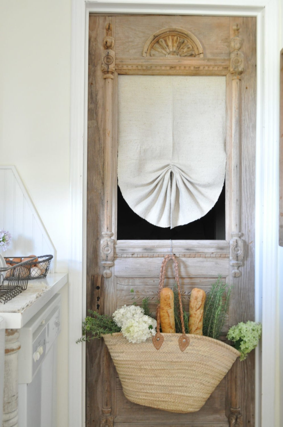 Creative ways to hang curtains becky 39 s farmhouse - Unique ways to hang curtains ...